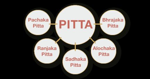 Pitta – Subdoshas